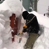消火栓雪掘り ~平成18年を超える大雪か?!~