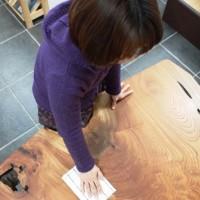 オイル塗装の家具のメンテナンスについて