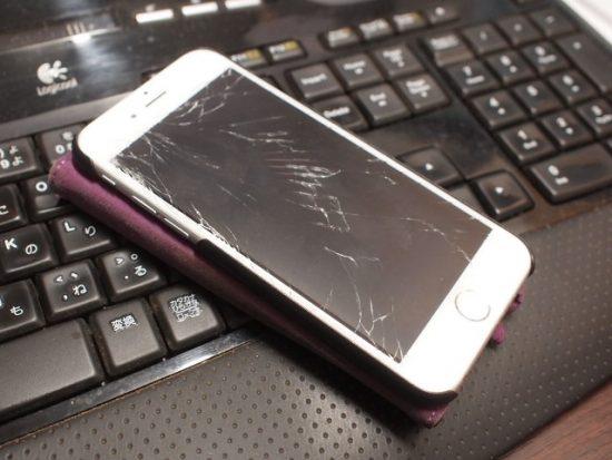 作業場でiPhoneを落として画面を割ってしまいました。。20161023