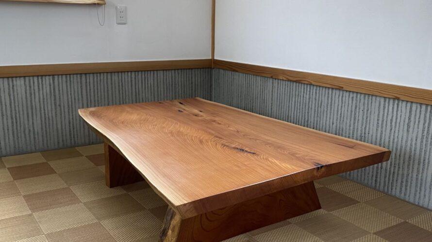 USED品-欅一枚板座卓限定販売20210812-1
