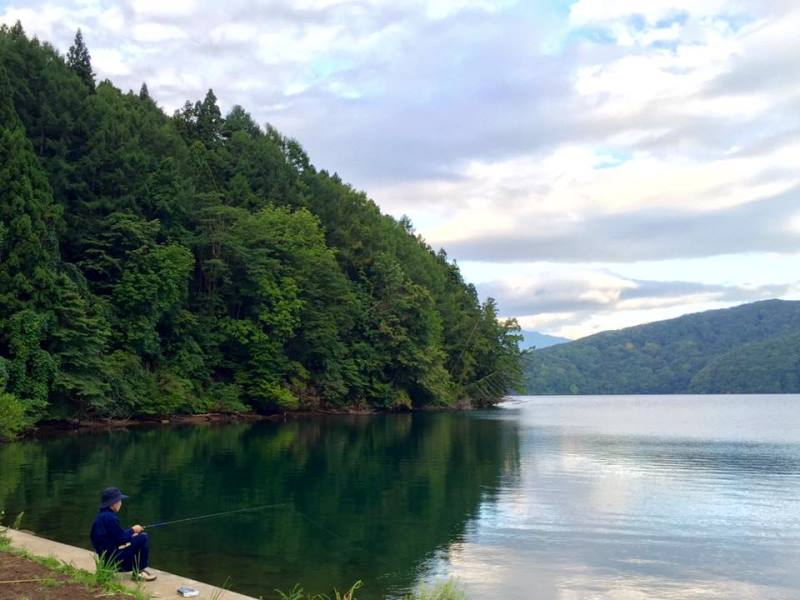 夏休み宿題完了のご褒美でバス釣りへ。20160816