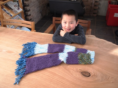 息子がマフラーを編んでくれました(*^^*)5