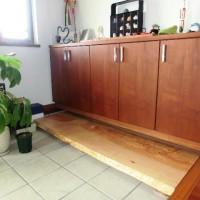 納品事例 栃極上杢一枚板踏み台 ~お客様より納品後の写真とコメントをいただきました~