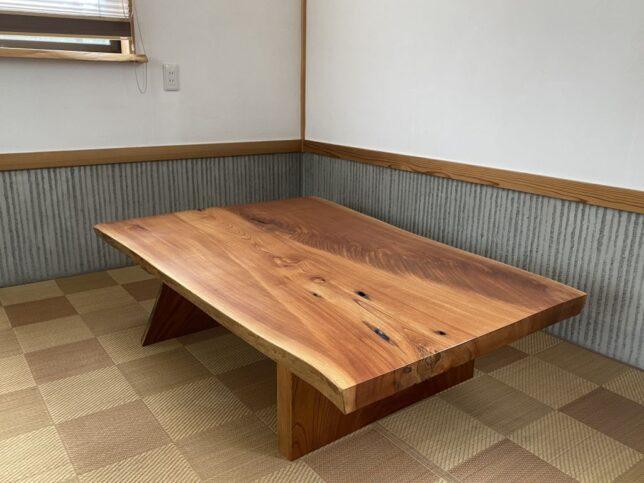 USED品-欅一枚板座卓限定販売20210812-2