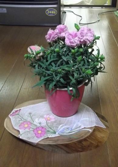トールペイント花置きにして