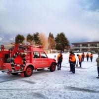 消防団出初式に向けての練習開始