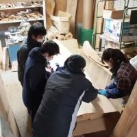 今日の作業20130219~杉大型一枚板6枚の梱包~