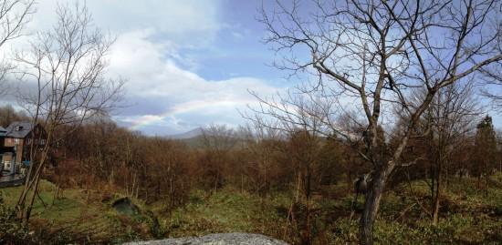 黒姫に綺麗な2重の虹が出ました!1