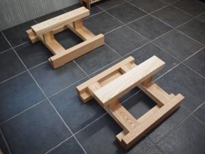 テーブル・座卓兼用脚(ホワイトアッシュ)2