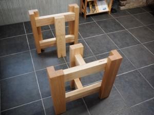 テーブル・座卓兼用脚(ホワイトアッシュ)1
