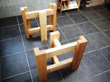 テーブル・座卓兼用脚(ホワイトアッシュ)