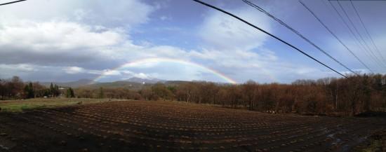黒姫に綺麗な2重の虹が出ました!2