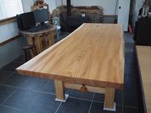 巨大欅一枚板テーブル