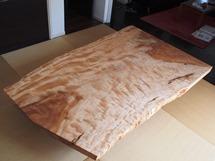 栃一枚板超広幅厚盤座卓