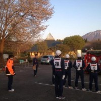 消防団操法大会の練習が始まりました