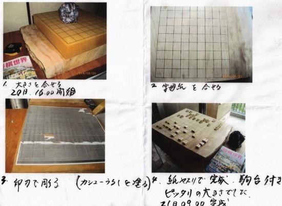 欅の将棋盤(欅一枚板厚盤)2