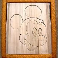 お客様の作品 栗一枚板のパズルとフォトフレーム