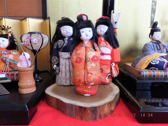 お雛様飾り台~黄蘗(キハダ)切株輪切り一枚板20180213
