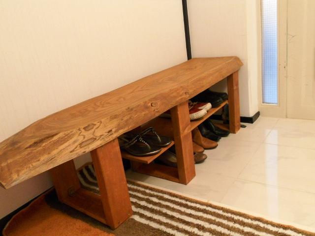 玄関用ベンチ兼靴箱1