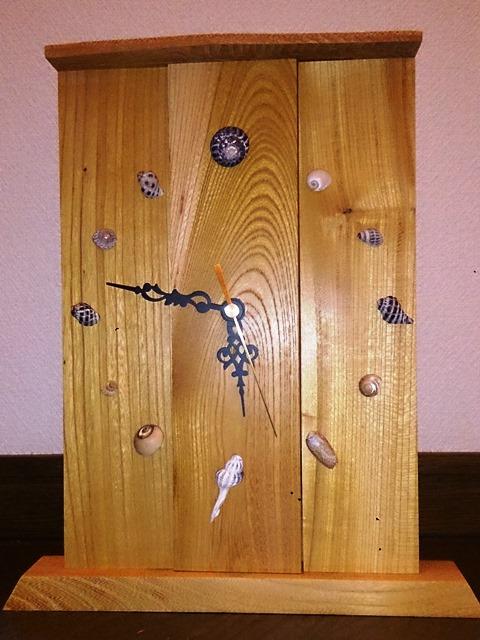 欅の置き時計1