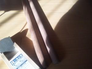 太鼓の達人のマイバチ製作用素材(ブラックウォルナット丸棒)