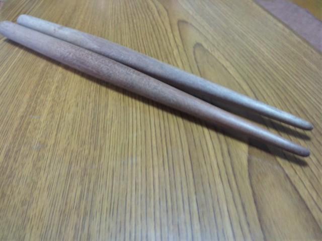 太鼓の達人マイバチ(ブラックウォルナット丸棒使用)