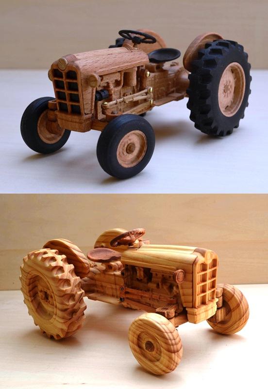 お客様の作品~木製プラモデル「FORD871」~