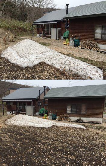 今日の信州・黒姫20170420~完全な雪解けまでもう少し。。~2