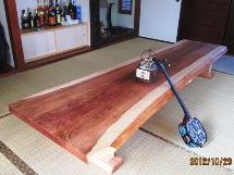 総杉造り長尺一枚板座卓