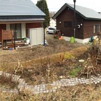 我が家の風景20141119~庭木の冬囲い・除雪機点検~