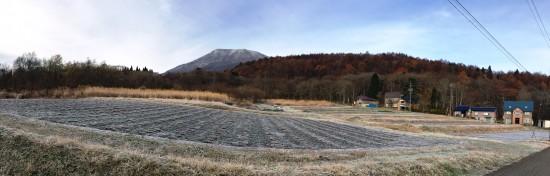 信州・黒姫今朝の風景20141120マイナス4度の朝-2