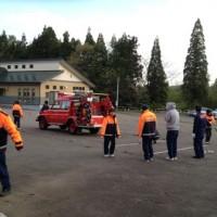 消防団の操法朝練が始まりました