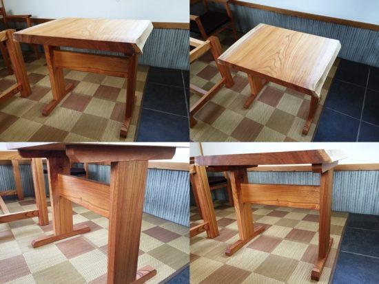 欅一枚板サイドテーブル20170521