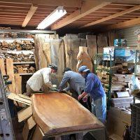 今日の作業場20170523~欅大型一枚板素材の出荷作業・銘木端材の掲載準備~