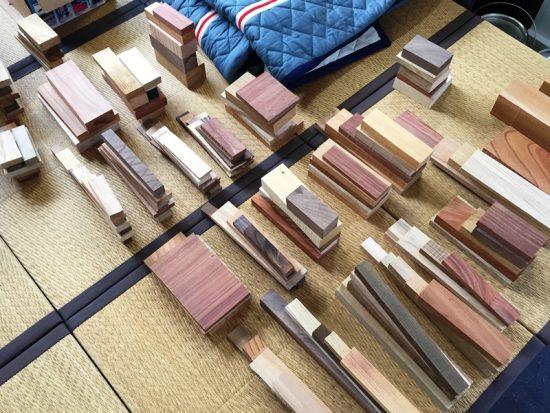 銘木端材お試しセットを準備中です20170523