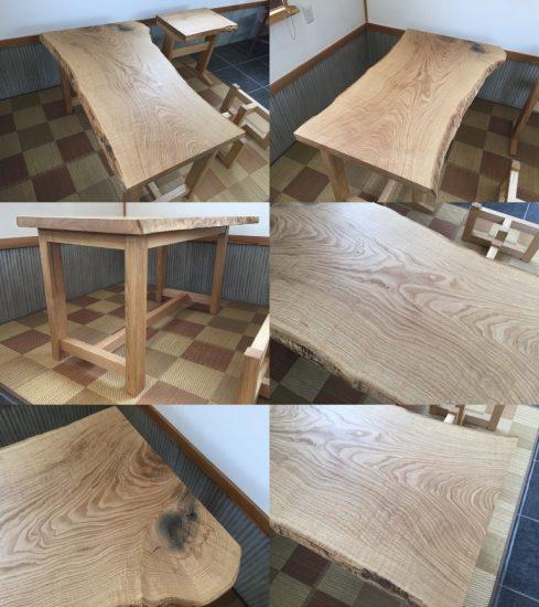 総栗造り一枚板テーブル20170621
