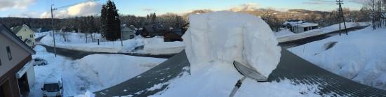 屋根の雪下ろし20140113-2
