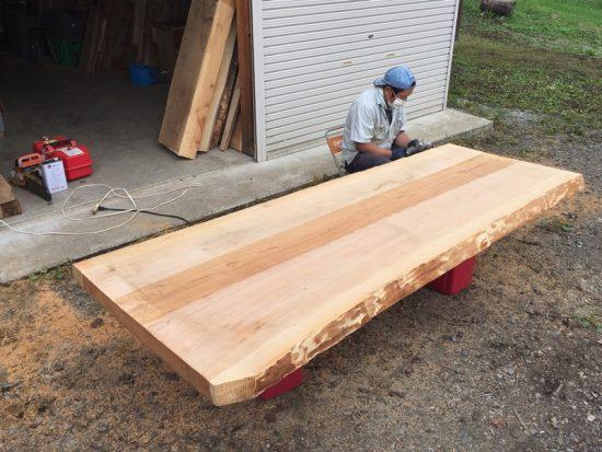 杉巨木広幅一枚板入荷201707