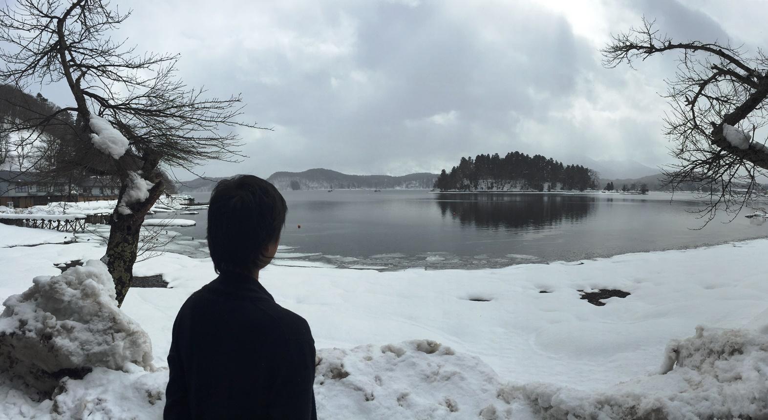 決算監査の合間に野尻湖へ20150219