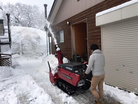 静岡の友人も除雪初体験!20150220