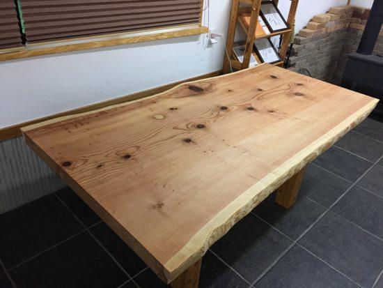 杉巨木一枚板座卓、完成!20170907-2