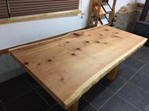 総杉造り巨木一枚板座卓20170907