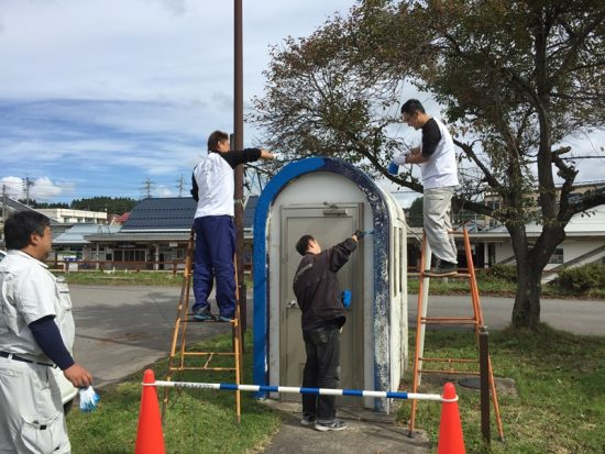 商工会青年部事業・黒姫駅前公園遊具ペンキ塗り20171005-3