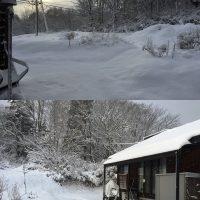 初雪から3日、新シーズン初めての積雪20171119