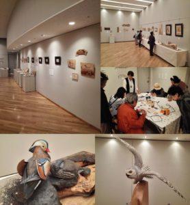 第11回バーニングアート展&バードカービング展開催の様子1~サントミューゼ~