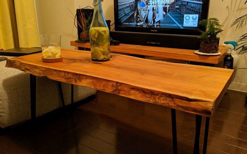 お客様のDIY作品「胡桃一枚板のコーヒーテーブル」~東京都・坂本様~