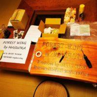 お客様のDIY作品「別荘ログハウスの看板(胡桃一枚板)」~神奈川県・枡岡様~20200726