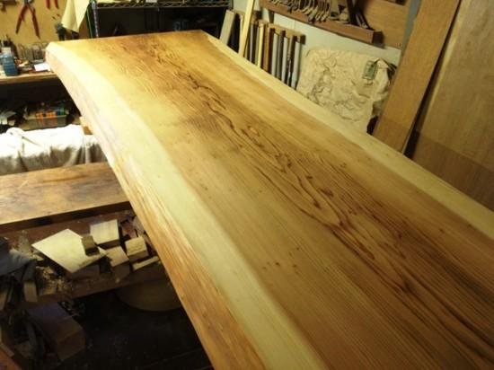 宮国様杉長尺一枚板座卓2