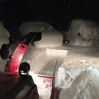 2日に渡る大雪警報、除雪機故障のピンチ、そしてご近所・知人の有り難さを実感20171226~28