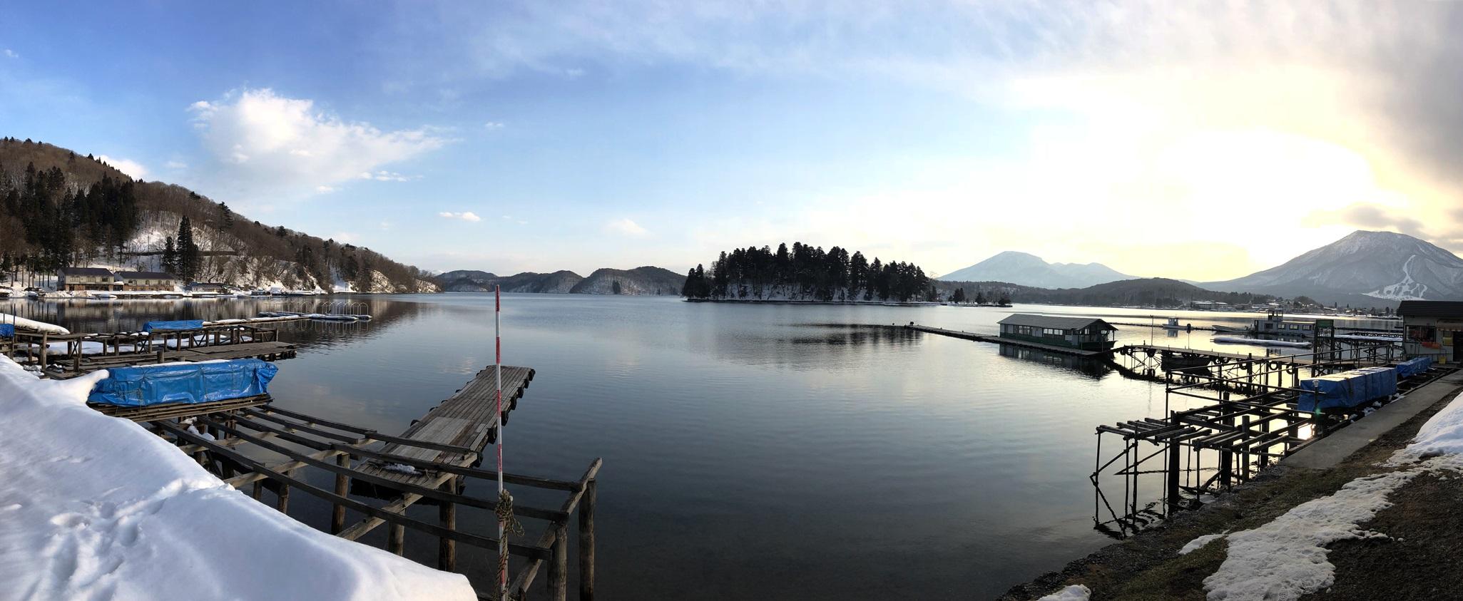 野尻湖へわかさぎ釣りに20180227-1